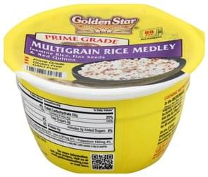 Golden Star Rice Medley Multigrain, Prime Grade, Jasmine Rice, Flax Seeds & Red Quinoa