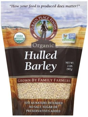 Grain Place Foods Organic Hulled Barley - 2 lb