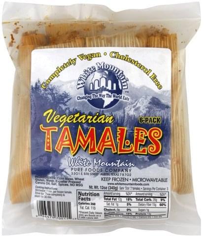 White Mountain Vegetarian Tamales - 6 ea