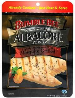 Bumble Bee Albacore Steak Lightly Marinated with Mesquite Grill Flavor