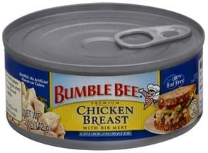 Bumble Bee Chicken Breast Premium, with Rib Meat, Chunk in Water