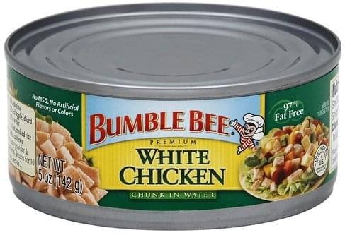 Bumble Bee Premium, Chunk in Water White Chicken - 5 oz