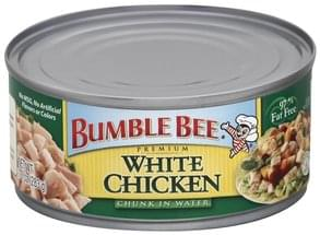 Bumble Bee White Chicken Premium, Chunk in Water