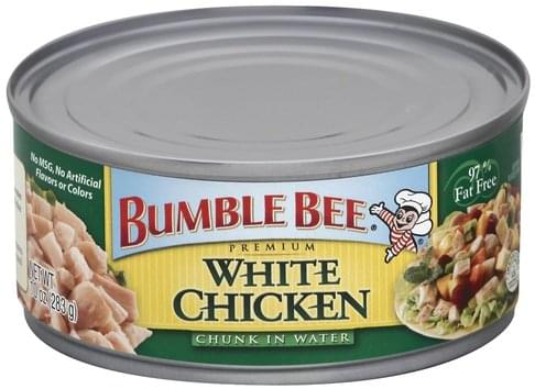 Bumble Bee Premium, Chunk in Water White Chicken - 10 oz