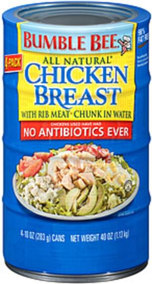 Bumble Bee All Natural With Rib Meat In Water Chicken Breast - 40