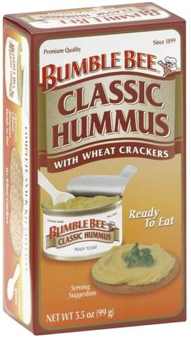 Bumble Bee with Wheat Crackers Classic Hummus - 3.5 oz