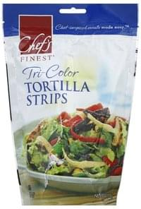 Chefs Finest Tortilla Strips Tri-Color
