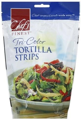 Chefs Finest Tri-Color Tortilla Strips - 4 oz