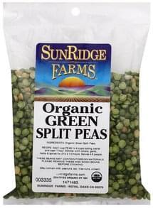 SunRidge Farms Green Split Peas Organic