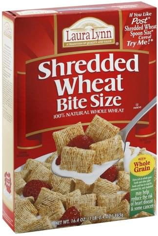 Laura Lynn Shredded Wheat, Bite Size Cereal - 16.4 oz