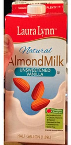 Laura Lynn Unsweetened Vanilla Natural Almond Milk - 240 ml