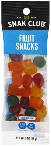 Snak Club Grab and Run Fruit Snacks - 2 oz