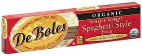 DeBoles Pasta Spaghetti Style, Organic, Whole Wheat
