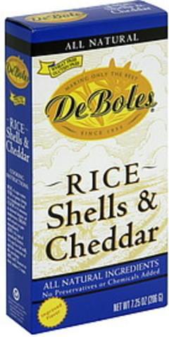 DeBoles Rice Shells & Cheddar
