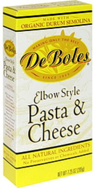DeBoles Elbow Style Pasta & Cheese Sauce - 7.25 oz