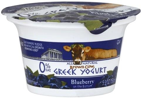 Brown Cow Nonfat, Greek, Blueberry on the Bottom Yogurt - 5.3 oz
