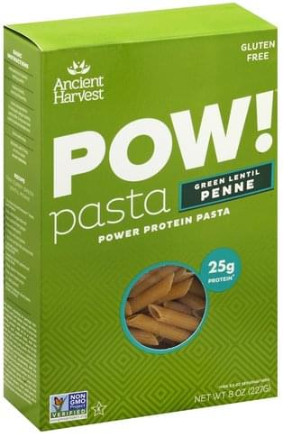 Ancient Harvest Green Lentil Penne Pasta - 8 oz