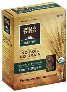 Bella Terra Penne Rigate Organic, Whole Wheat, No. 59