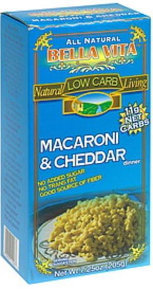 Bella Vita Macaroni & Cheddar Dinner - 7.25 oz