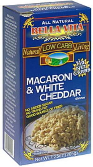 Bella Vita Macaroni & White Cheddar - 7.25 oz