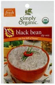 Simply Organic Dip Mix Black Bean