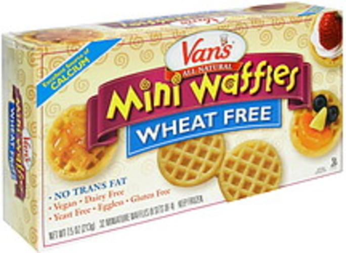 Vans Wheat Free Mini Waffles - 32 ea