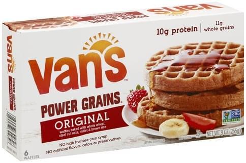 Vans Power Grains, Original Waffles - 6 ea