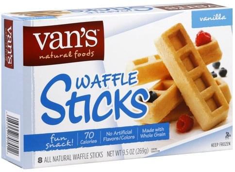 Vans Vanilla Waffle Sticks - 8 ea