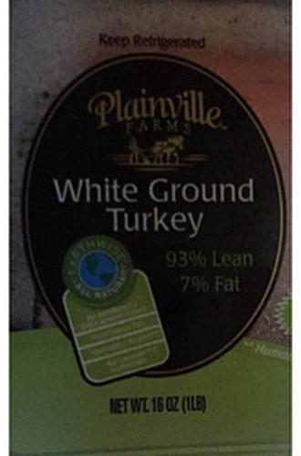 Plainville Farms White Ground Turkey - 112 g