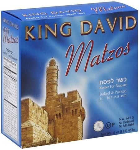 King David Matzos - 16 oz