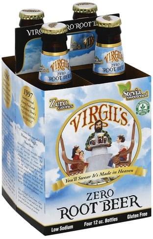 Virgils Zero Root Beer - 4 ea