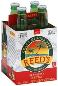 Reeds Ginger Beer Zero Sugar, Extra, Jamaican-Style