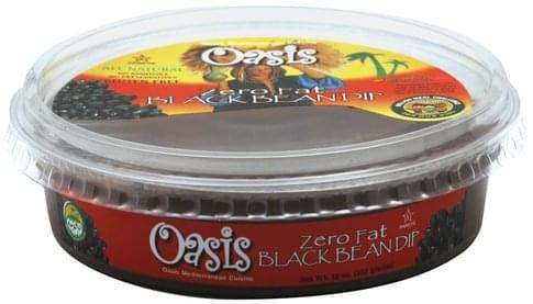 Oasis Zero Fat Black Bean Dip - 10 oz