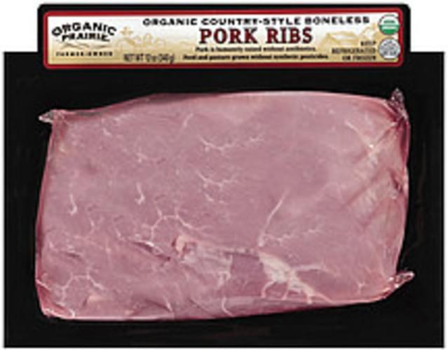 Organic Prairie Country-Style Boneless Ribs Pork - 12 oz