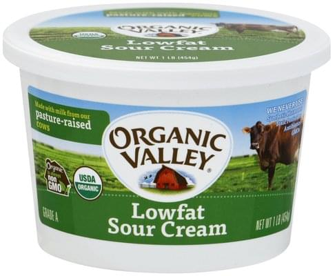 Organic Valley Low Fat Sour Cream - 1 lb
