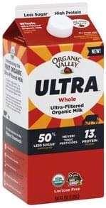 Organic Valley Milk Ultra-Filtered, Organic, Whole
