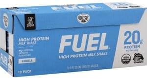 Fuel Milk Shake High Protein, Vanilla, 12 Pack