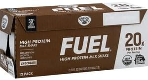 Fuel Milk Shake High Protein, Chocolate, 12 Pack