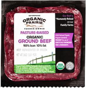 Organic Prairie Organic Prairie Organic 90% Lean 10% Fat Ground Beef Organic 90% Lean 10% Fat Ground