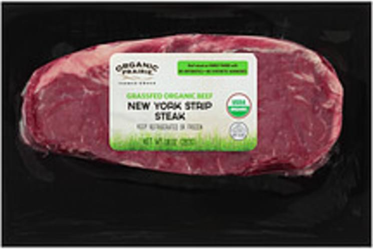 Organic Prairie Fresh Grassfed Organic Beef New York Organic Prairie Fresh Grassfed Organic Beef New York Strip Steak - 0
