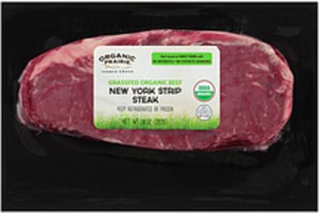 Organic Prairie Organic Prairie Fresh Grassfed Organic Beef New York Strip Steak Fresh Grassfed Organic Beef New York