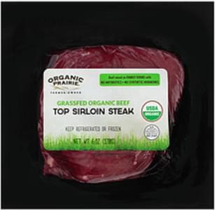 Organic Prairie Organic Prairie Fresh Grassfed Organic Top Sirloin Steak Fresh Grassfed Organic Top