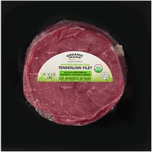 Organic Prairie Organic Prairie Fresh Grassfed Organic Beef Tenderloin Filet Fresh Grassfed Organic Beef