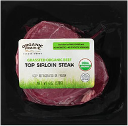 Organic Prairie Frozen Grassfed Organic Top Organic Prairie Frozen Grassfed Organic Top Sirloin Steak - 0