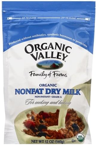 Organic Valley Nonfat, Organic Dry Milk - 12 oz