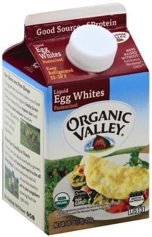 Organic Valley Pasteurized, Liquid Egg Whites - 16 oz