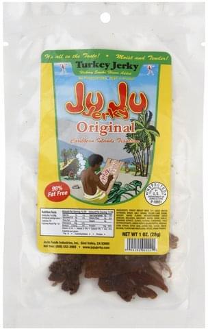 Ju Ju Jerky Original Turkey Jerky - 1 oz