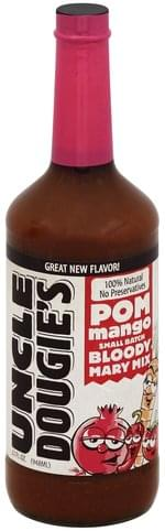Uncle Dougies Pom Mango, Small Batch Bloody Mary Mix - 32 oz