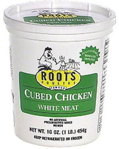 Roots Cubed Chicken Soup, with White Meat - 16 oz