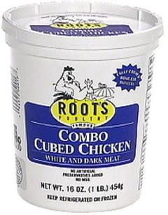 Roots Combo Cubed Chicken Soup, White and Dark Meat